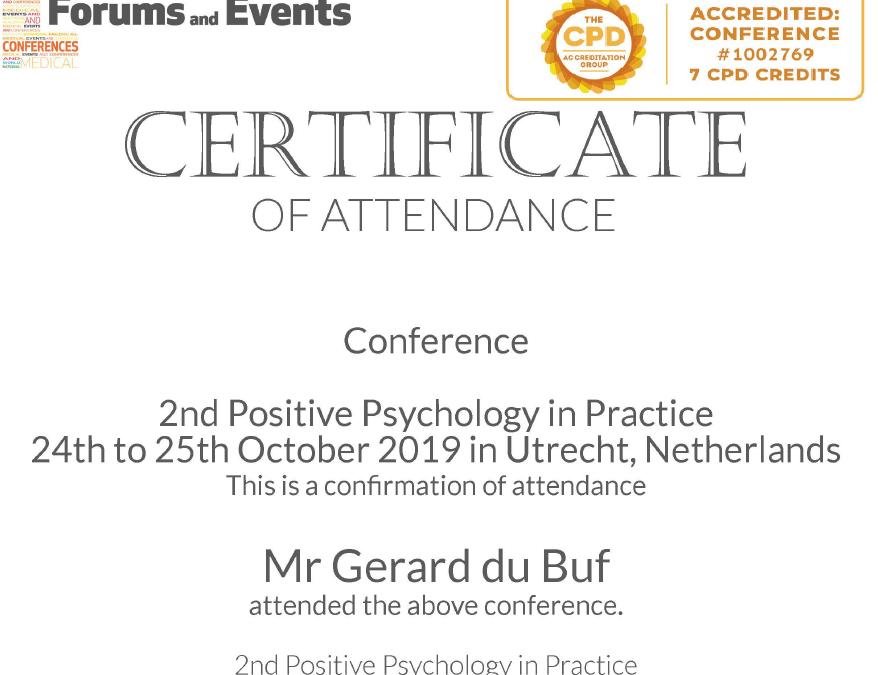 Certificaat Positieve Psychologie